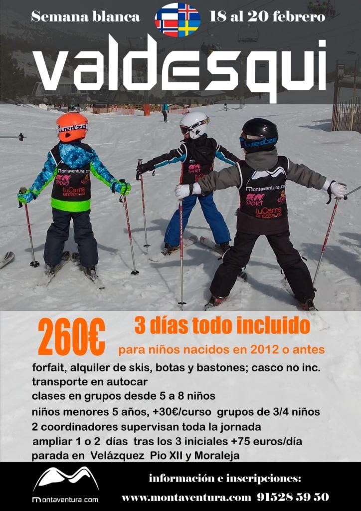 curso esqui sierra Madrid colegio Britanico y Escandinavo
