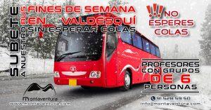 SUBETE a Nuestro BUS. Fines de Semana en Valdesquí.