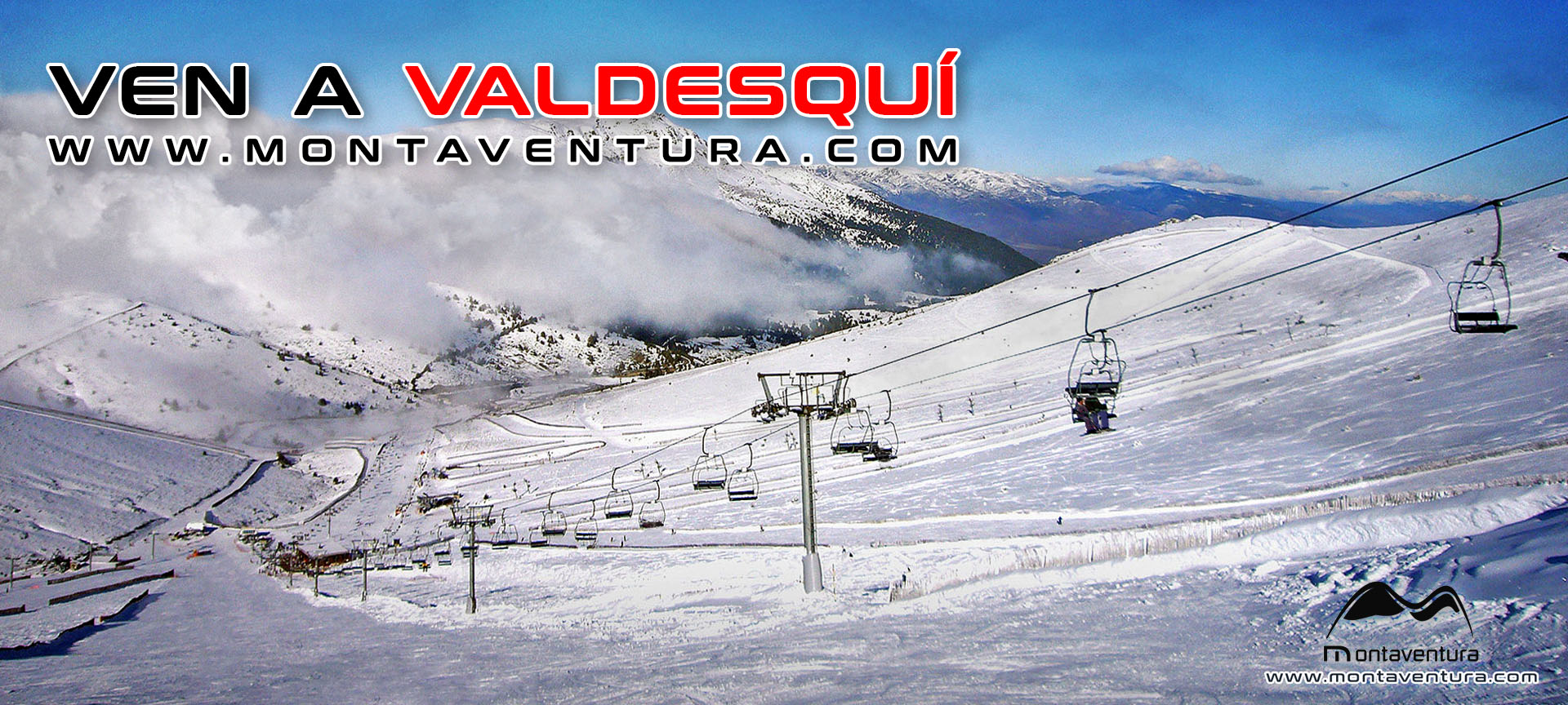 Ven a la estación de esquíen Valdesqui