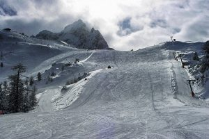 Mundiales de esquí alpino que se celebran en la estación italiana de Cortina d'Ampezzo.