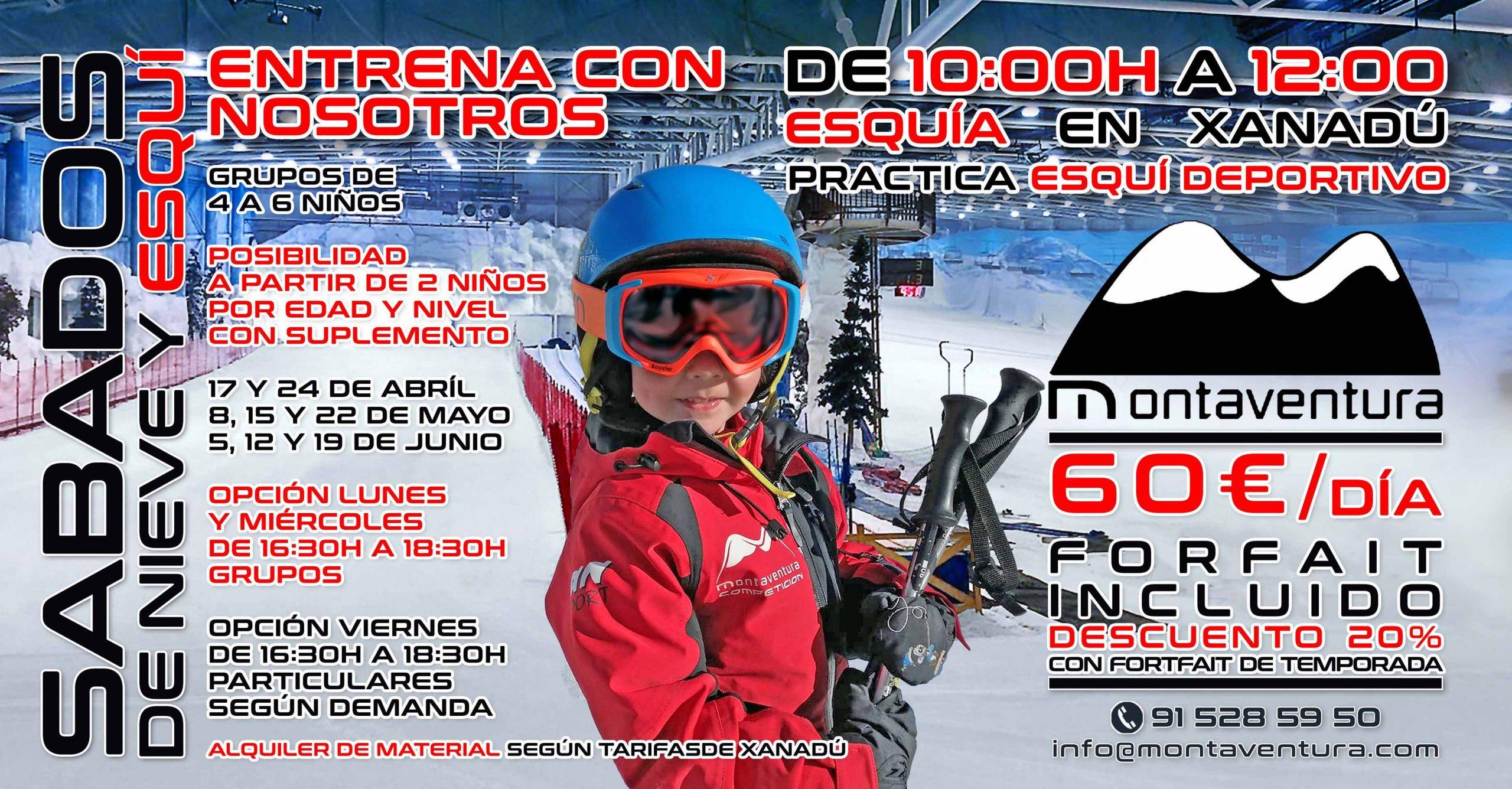 Entrena Esqui Deportivo con Montaventura en Xanadu
