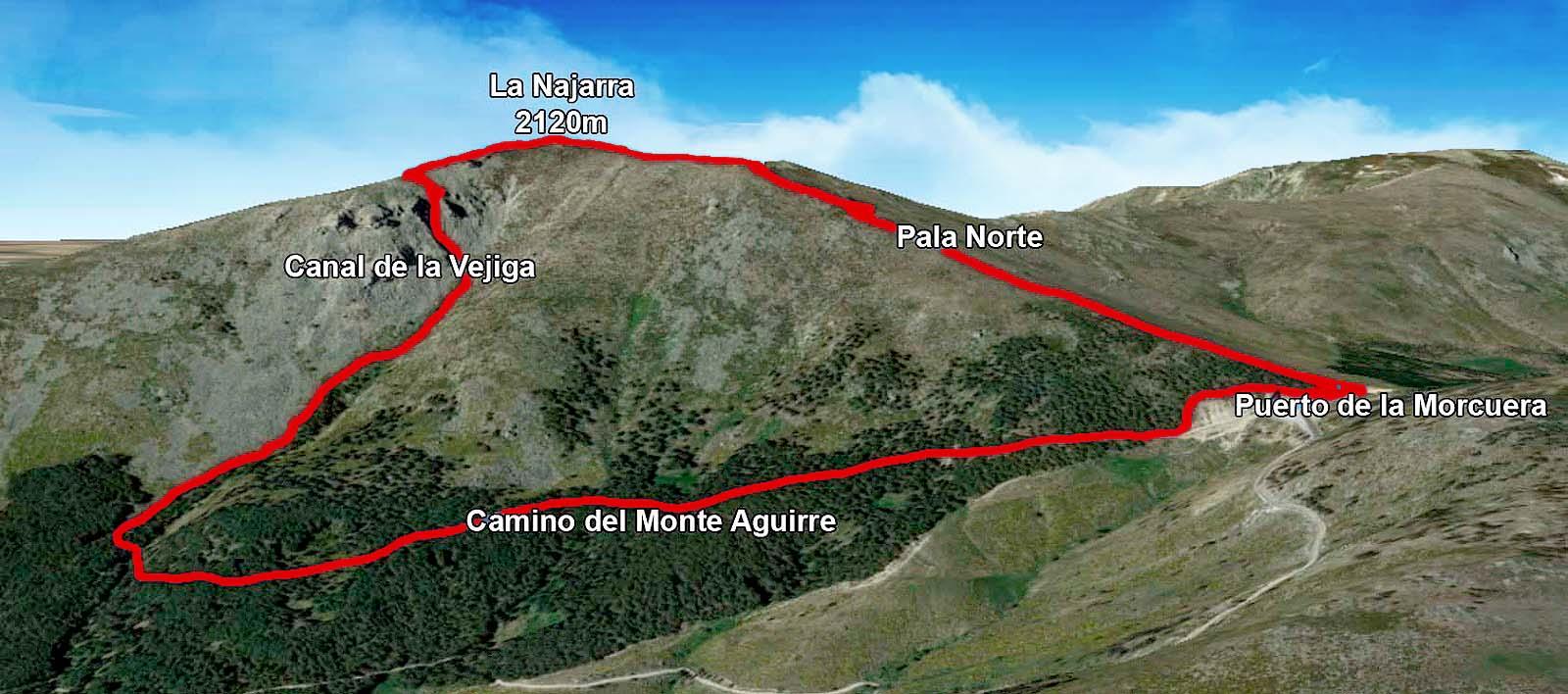 Ruta La Najarra en Sierra de Guadarrama